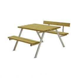 Bänkbord Alpha 118 cm med 1 ryggstöd PLUS