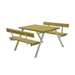 Bänkbord Alpha 118 cm med 2 ryggstöd PLUS