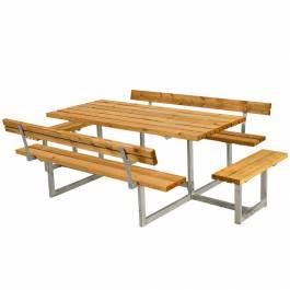 Bänkbord Basic med Extra Sittplatser Plus