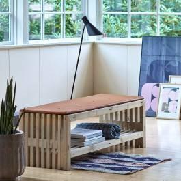 Trallbänk Rustik Design med Hylla 138 Plus