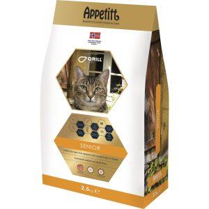 Kattmat Appetitt Katt Senior, 2,5 kg