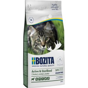 Kattmat Bozita Feline Active and Sterilised Lamm, 10 kg