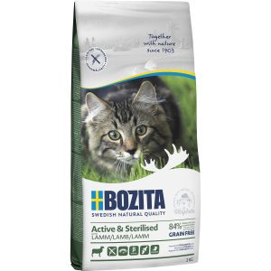 Kattmat Bozita Feline Active and Sterilised Lamm, 2 kg